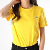 /achat-t-shirts/calvin-klein-tee-shirt-femme-monogram-embroidery-0581-jaune-178716.html