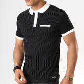 /achat-polos-manches-courtes/paname-brothers-polo-manches-courtes-pass-noir-blanc-178710.html