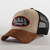 /achat-trucker/von-dutch-casquette-trucker-suedine-1-marron-beige-noir-178762.html