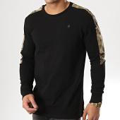 /achat-t-shirts-manches-longues/g-star-tee-shirt-manches-longues-avec-bande-camouflage-meson-graphic-d12858-4561-noir-vert-kaki-178875.html