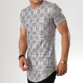 /achat-t-shirts-longs-oversize/john-h-tee-shirt-oversize-1922-gris-noir-blanc-178928.html