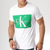 /achat-t-shirts/calvin-klein-tee-shirt-j30j307843-blanc-vert-178994.html