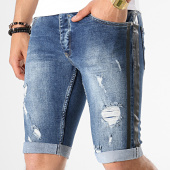 /achat-shorts-jean/black-needle-short-jean-slim-a-bandes-2452-bleu-brut-179113.html