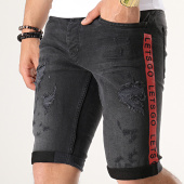 /achat-shorts-jean/classic-series-short-jean-slim-a-bandes-2457-noir-179136.html