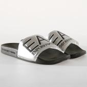 /achat-claquettes-sandales/ea7-claquettes-slipper-visibility-xcp001-xcc22-noir-argente-179059.html