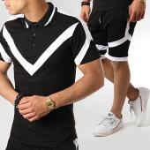 /achat-polos-manches-courtes/ikao-ensemble-polo-manches-courtes-short-jogging-f498-noir-blanc-179163.html