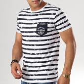 /achat-t-shirts-poche/la-maison-blaggio-tee-shirt-mali-blanc-bleu-marine-179151.html