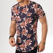 /achat-t-shirts-longs-oversize/uniplay-tee-shirt-oversize-kxt-28-bleu-marine-floral-178966.html