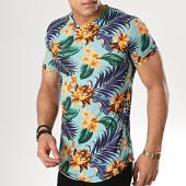 /achat-t-shirts-longs-oversize/uniplay-tee-shirt-oversize-kxt-27-bleu-clair-floral-178988.html