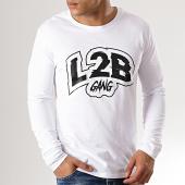 /achat-t-shirts-manches-longues/l2b-gang-tee-shirt-manches-longues-logo-blanc-noir-179483.html