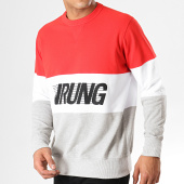 /achat-sweats-col-rond-crewneck/wrung-sweat-crewneck-racer-gris-chine-blanc-rouge-179391.html