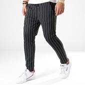 /achat-pantalons-carreaux/classic-series-pantalon-a-rayures-91019-noir-179670.html