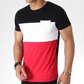/achat-t-shirts/lbo-tee-shirt-tricolore-avec-poche-723-noir-blanc-rouge-179762.html