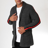 /achat-cardigans-gilets/paname-brothers-gilet-a-bandes-320-gris-anthracite-rouge-noir-179691.html