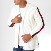 /achat-cardigans-gilets/paname-brothers-gilet-a-bandes-320-blanc-casse-rouge-noir-179692.html
