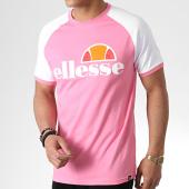 /achat-t-shirts/ellesse-tee-shirt-raglan-cassina-shb00629-rose-blanc-179885.html