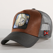 /achat-trucker/dragon-ball-z-casquette-trucker-c18-gris-anthracite-marron-180013.html