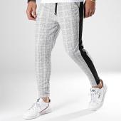 /achat-pantalons-carreaux/frilivin-pantalon-carreaux-avec-bandes-1568-blanc-noir-179965.html