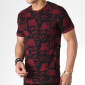 /achat-t-shirts/mtx-tee-shirt-tm0098-bordeaux-noir-180024.html