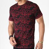 /achat-t-shirts/mtx-tee-shirt-tm0096-bordeaux-noir-180062.html