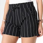 /achat-shorts-jogging/only-short-femme-raye-catia-noir-180040.html