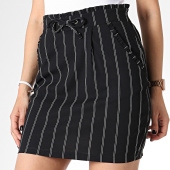 /achat-jupes/only-jupe-femme-a-rayures-catia-noir-blanc-180048.html