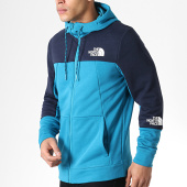 /achat-sweats-zippes-capuche/the-north-face-sweat-zippe-capuche-mountain-lite-3ryw-bleu-turquoise-179974.html