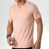 /achat-t-shirts/jack-and-jones-tee-shirt-col-tunisien-benjamin-saumon-chine-180198.html