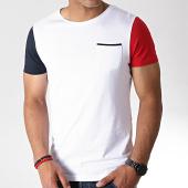 /achat-t-shirts/lbo-tee-shirt-tricolore-avec-poche-732-blanc-180284.html