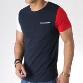 /achat-t-shirts/lbo-tee-shirt-tricolore-avec-poche-733-bleu-marine-180285.html