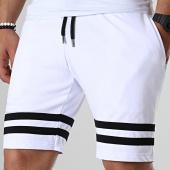 /achat-shorts-jogging/lbo-short-jogging-avec-bandes-noires-669-blanc-180290.html