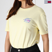 /achat-debardeurs/tommy-hilfiger-jeans-tee-shirt-femme-summer-circle-signature-6698-jaune-180095.html