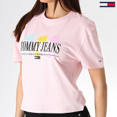 /achat-t-shirts/tommy-hilfiger-jeans-tee-shirt-femme-summer-palm-tree-6701-rose-180098.html