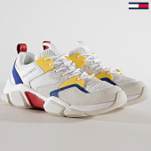 /achat-baskets-basses/tommy-hilfiger-jeans-baskets-chunky-material-mix-trainer-fm0fm02281-white-yellow-180249.html