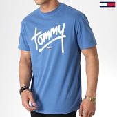 /achat-t-shirts/tommy-hilfiger-jeans-tee-shirt-handwriting-6478-bleu-ciel-180414.html