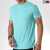 /achat-t-shirts/tommy-hilfiger-jeans-tee-shirt-linen-blend-6546-vert-chine-180417.html