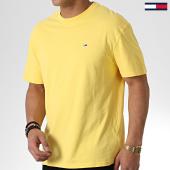 /achat-t-shirts/tommy-hilfiger-jeans-tee-shirt-overwash-6594-jaune-180422.html