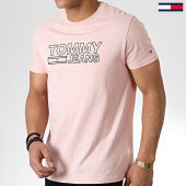 /achat-t-shirts/tommy-hilfiger-jeans-tee-shirt-contoured-corp-logo-6857-rose-180425.html
