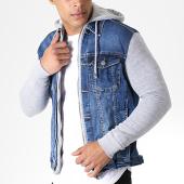/achat-vestes-jean/classic-series-veste-jean-a-capuche-gj3024-bleu-denim-gris-chine-180454.html