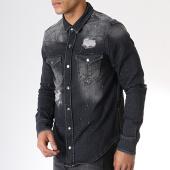/achat-chemises-manches-longues/grj-denim-chemise-jean-manches-longues-13653-noir-180493.html