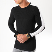 /achat-pulls/lbo-pull-avec-bandes-blanches-jum-01-noir-180506.html