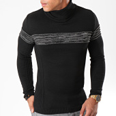 /achat-pulls/lbo-pull-col-roule-avec-bande-anthacite-chine-jum-13-noir-180519.html