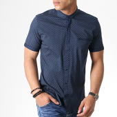 /achat-chemises-manches-courtes/classic-series-chemise-manches-courtes-col-mao-y-3392-bleu-marine-gris-180582.html