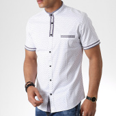 /achat-chemises-manches-courtes/classic-series-chemise-manches-courtes-col-mao-y-3392-blanc-gris-180583.html