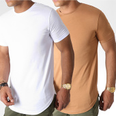 /achat-t-shirts-longs-oversize/lbo-lot-de-2-tee-shirts-oversize-781-camel-et-blanc-180606.html