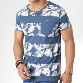 /achat-t-shirts-poche/mz72-tee-shirt-poche-tercet-bleu-marine-floral-180537.html