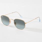 /achat-lunettes-de-soleil/ray-ban-lunettes-de-soleil-hexagonal-flat-lenses-3548-dore-bleu-marine-180752.html