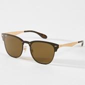 /achat-lunettes-de-soleil/ray-ban-lunettes-de-soleil-blaze-clubmaster-rb3576-dore-180765.html