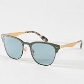 /achat-lunettes-de-soleil/ray-ban-lunettes-de-soleil-blaze-clubmaster-rb3576-bleu-marine-dore-180767.html