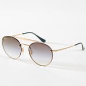 /achat-lunettes-de-soleil/ray-ban-lunettes-de-soleil-round-double-bridge-3614n-dore-bleu-180788.html